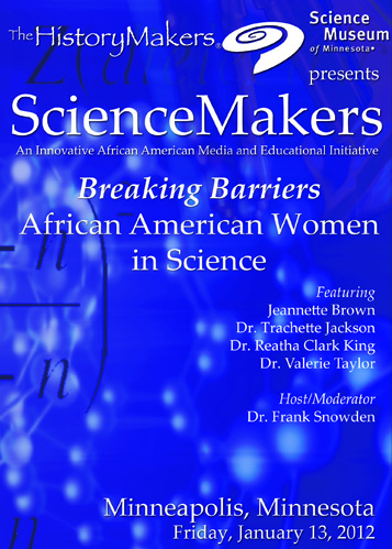 ScienceMakers: Breaking Barriers: African American Women in Science